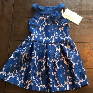 NWT little angels formal dress royal blue